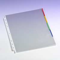 Clear Sheet Protectors Colored Edge - Transparent Office Supply